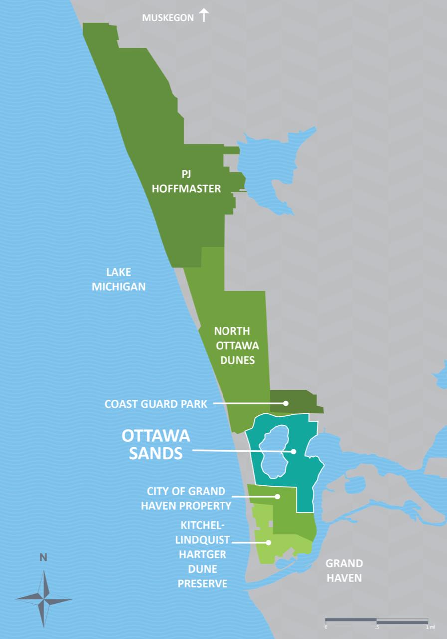 Ottawa Sands - Ottawa County, Michigan on long island sound map, old saybrook preserve map, great neck map, old westbury gardens map,