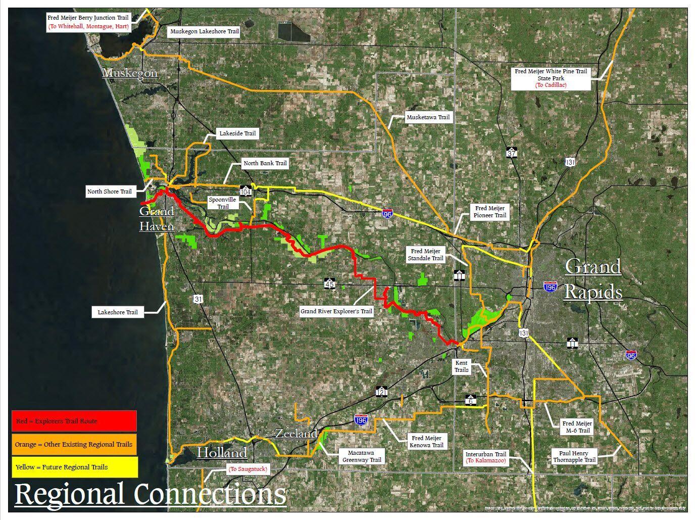 Gvsu Campus Map 2016.Greenway Park Projects Ottawa County Michigan